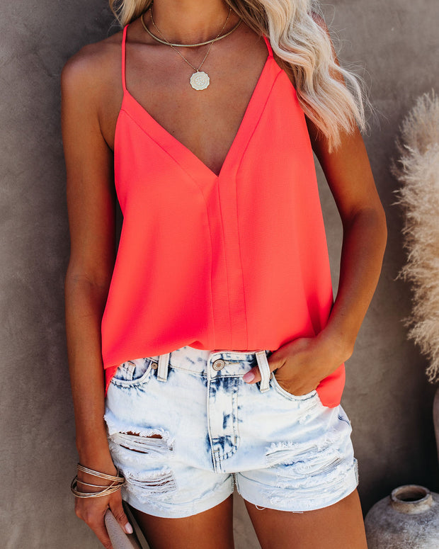 Cool Girl Racerback Tank - Bright Coral view 5