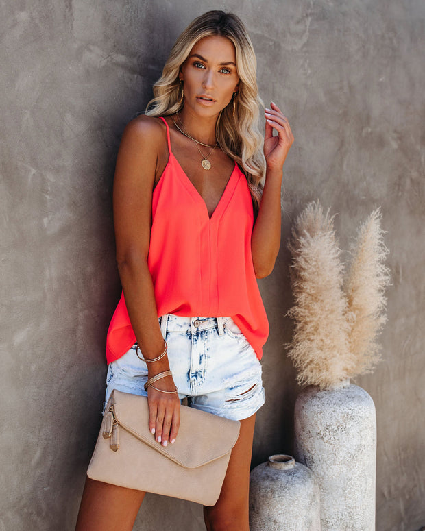 Cool Girl Racerback Tank - Bright Coral view 3