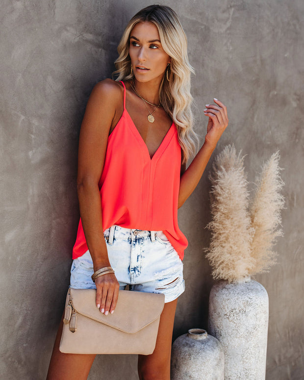 Cool Girl Racerback Tank - Bright Coral view 8