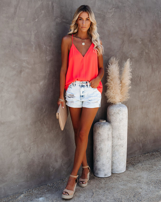 Cool Girl Racerback Tank - Bright Coral view 9