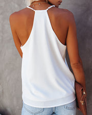 Cool Girl Racerback Tank - White view 2