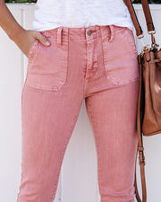 Coral Reef High Rise Cargo Zip Skinny