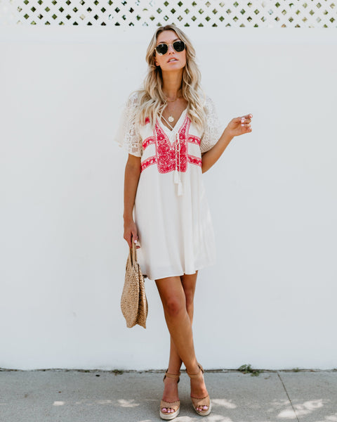 Coronet Embroidered Lace Dress - FLASH SALE