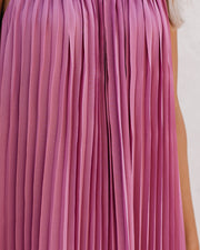 Cosmopolitan Pleated Maxi Dress - Mauve - FINAL SALE