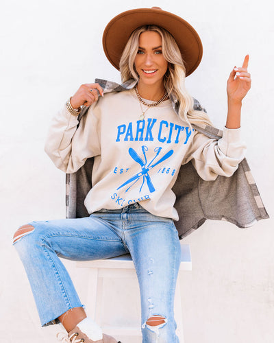 Cotton Blend Park City Ski Club Sweatshirt