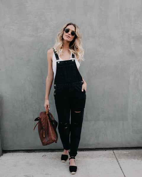 Country Girl Distressed Overalls