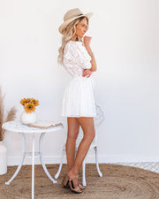 Country Mile Cotton Button Down Eyelet Dress view 8