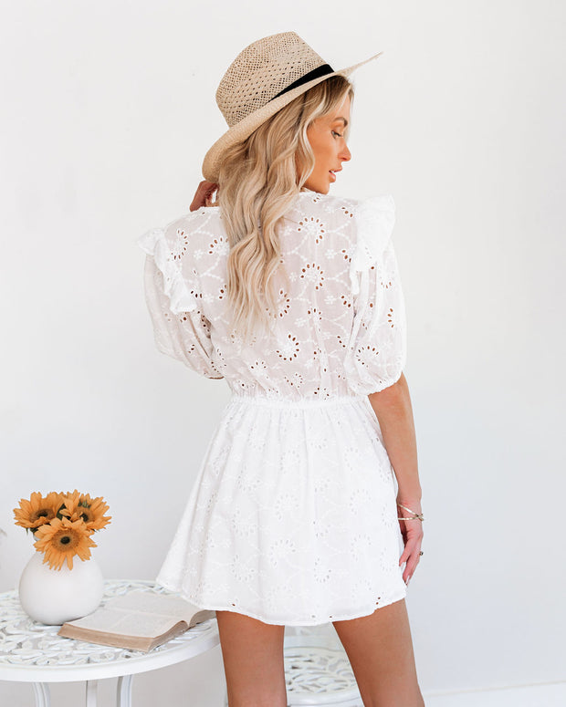 Country Mile Cotton Button Down Eyelet Dress view 2