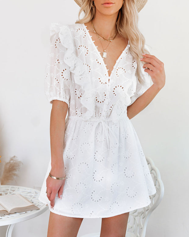 Country Mile Cotton Button Down Eyelet Dress view 5