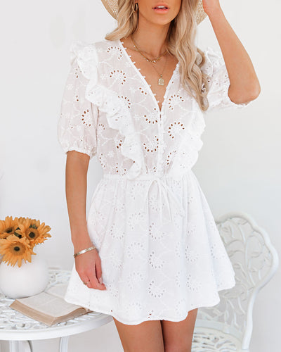 Country Mile Cotton Button Down Eyelet Dress