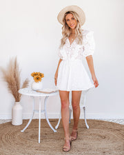 Country Mile Cotton Button Down Eyelet Dress view 1