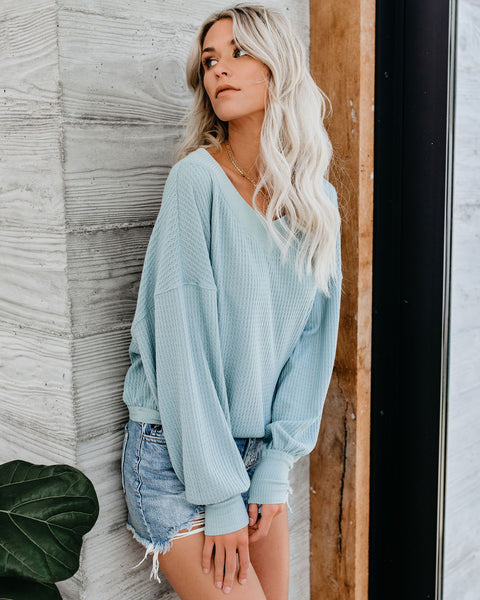 Country Roads Thermal Top - Teal
