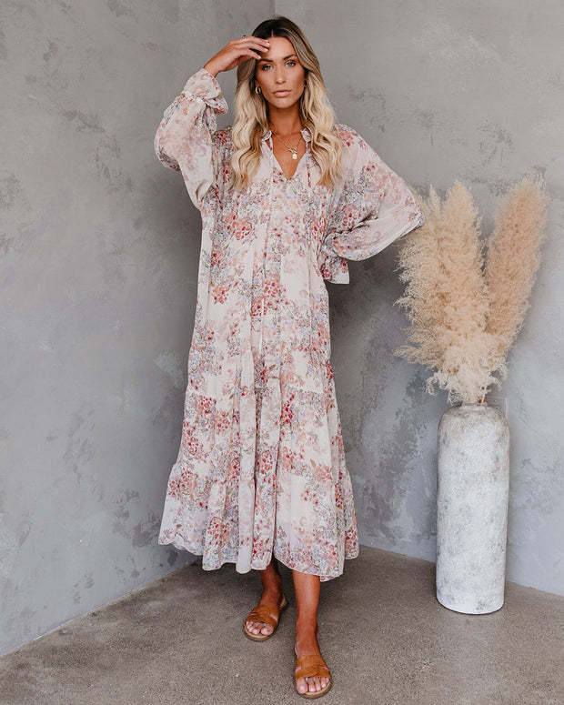 Countryside Floral Tiered Boho Maxi Dress