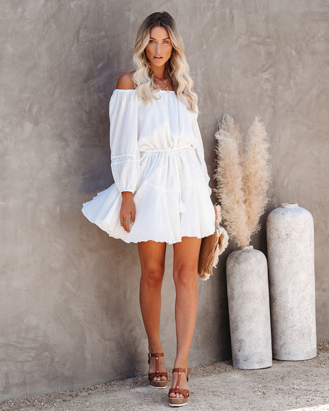 Count Your Blessings Cotton Off The Shoulder Dress