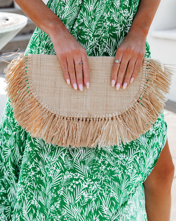 Cozumel Straw Fringe Clutch view 6