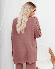 Crack Of Dawn Cotton Blend Henley Sweater - Mocha view 2