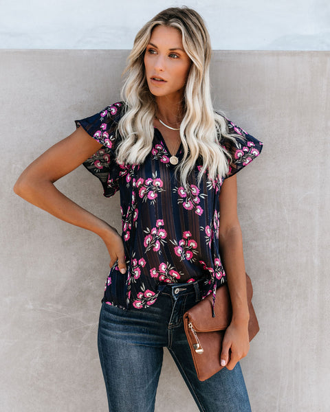 Cradle Of Love Flutter Tie Top