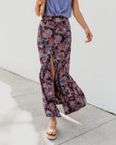 Cranberry Fields Button Down Maxi Skirt - FINAL SALE