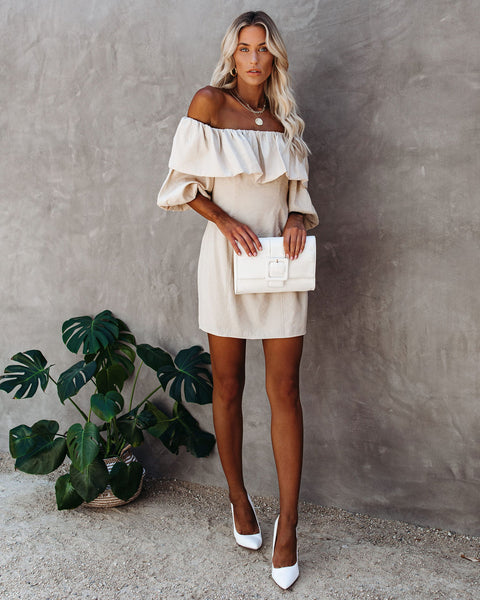 Cristin Off The Shoulder Puff Sleeve Dress