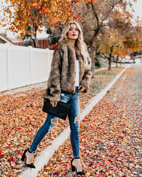 Crosby Pocketed Faux Fur Jacket