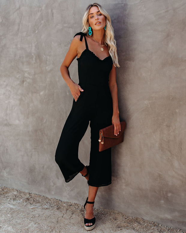 Crowd Pleaser Pocketed Tie Jumpsuit view 6