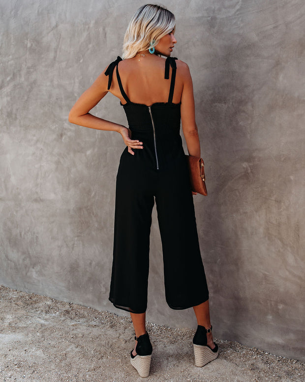 Crowd Pleaser Pocketed Tie Jumpsuit view 2