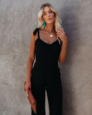 Crowd Pleaser Pocketed Tie Jumpsuit view 7