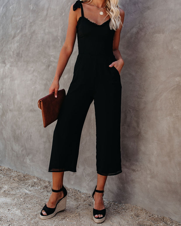 Crowd Pleaser Pocketed Tie Jumpsuit view 9