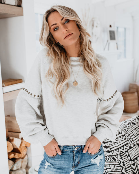 Crowd Pleaser Studded Sweatshirt