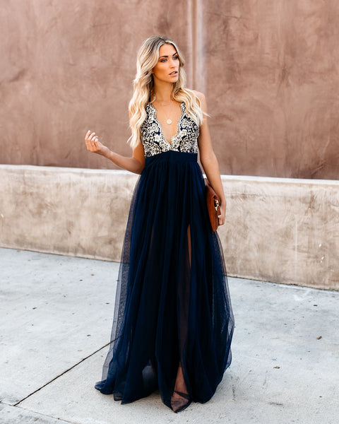 Crystal Winter Maxi Dress