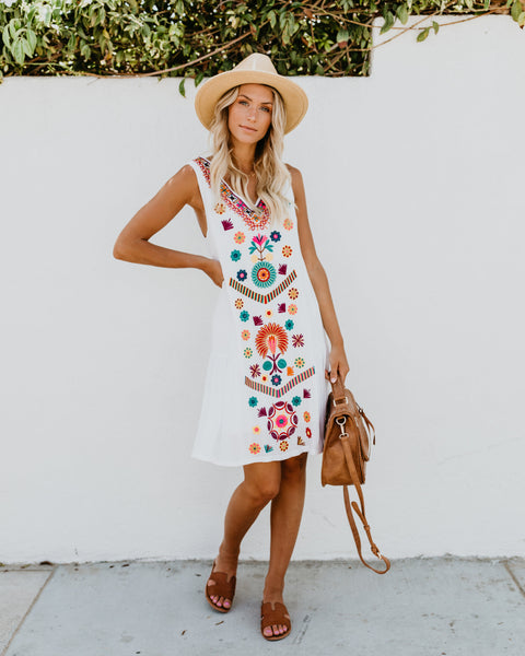 Cuban Summer Embroidered Dress