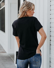 Cuffed Je T'aime Cotton Tee - FINAL SALE