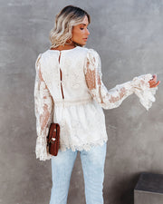 Curtain Call Crochet Lace Blouse view 5