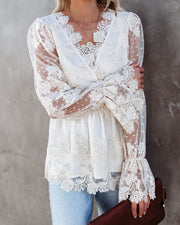 Curtain Call Crochet Lace Blouse