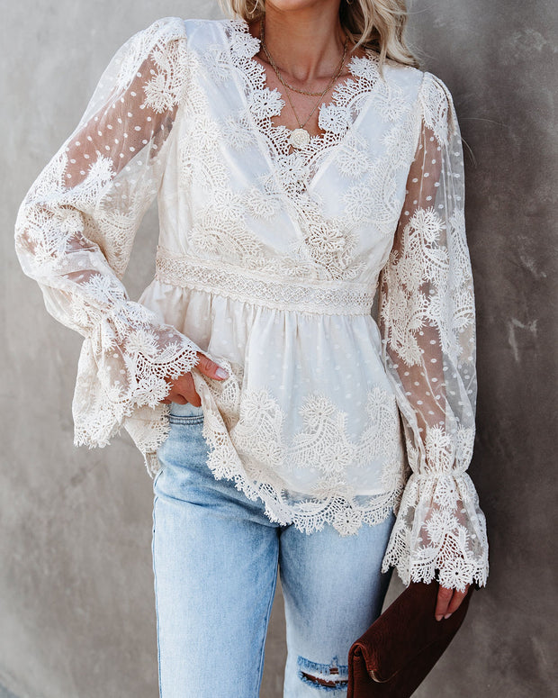 Curtain Call Crochet Lace Blouse view 9