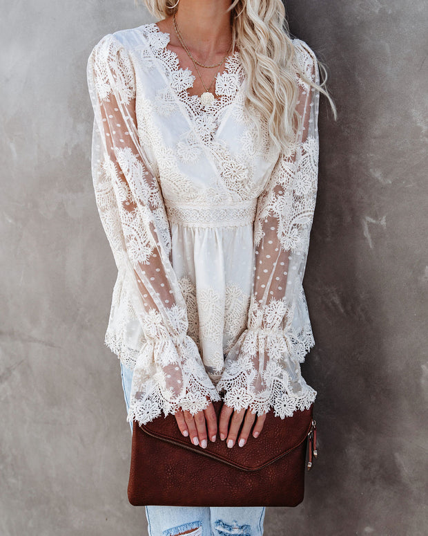 Curtain Call Crochet Lace Blouse view 10