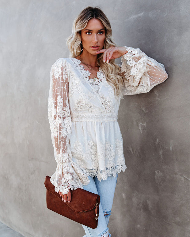 Curtain Call Crochet Lace Blouse view 1