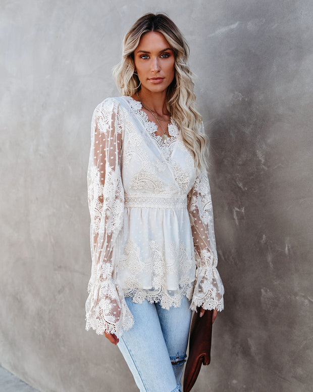 Curtain Call Crochet Lace Blouse view 4