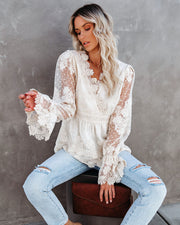 Curtain Call Crochet Lace Blouse view 2