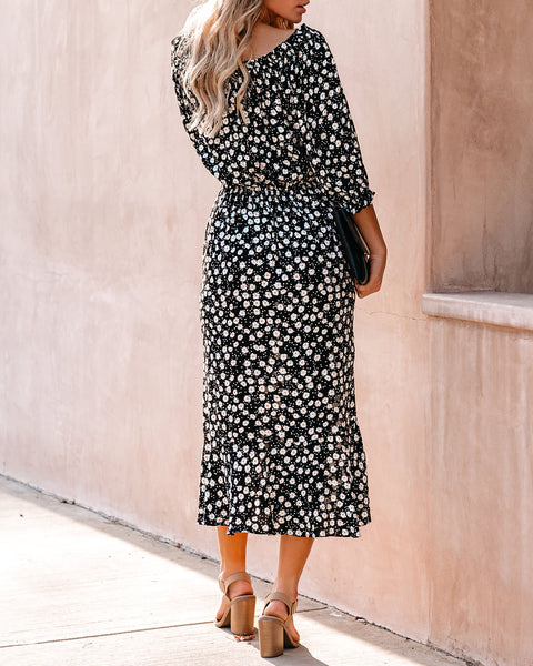 Curtsy Floral Midi Dress - FINAL SALE