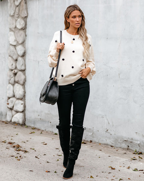 Cuteness Overload Polka Dot Sweater
