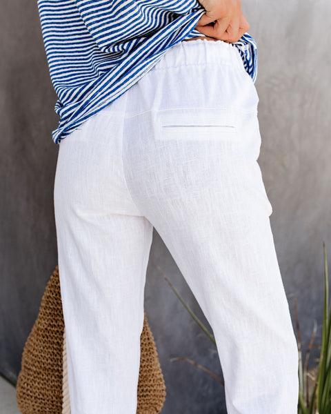 Daily Wellness Ramie Pocketed Drawstring Pants - FINAL SALE