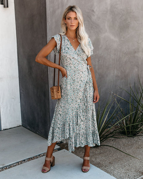Daisy A Day Wrap Maxi Dress