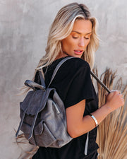Dalton Suede Backpack view 4