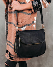 Dandy Crossbody Messenger Bag - Black view 3