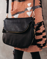 Dandy Crossbody Messenger Bag - Black view 4
