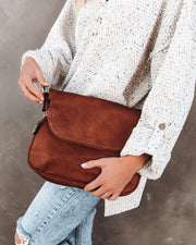 Dandy Crossbody Messenger Bag - Saddle