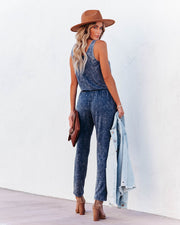 Danica Pocketed Washed Knit Jumpsuit