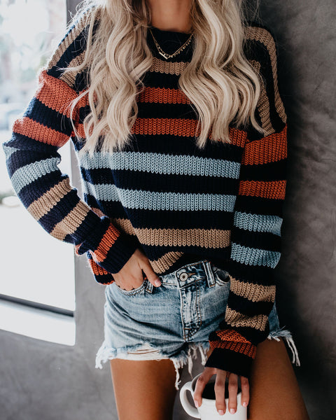 Daphne Striped Knit Sweater - FINAL SALE