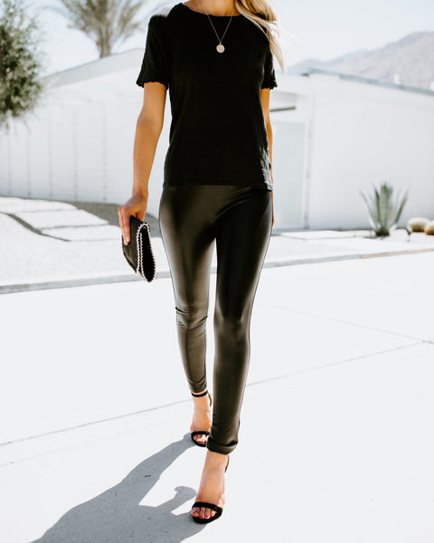 Dare To Dream Faux Leather Leggings